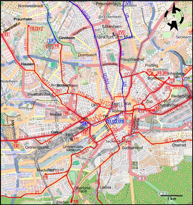 Frankfurt Tram Map Pdf