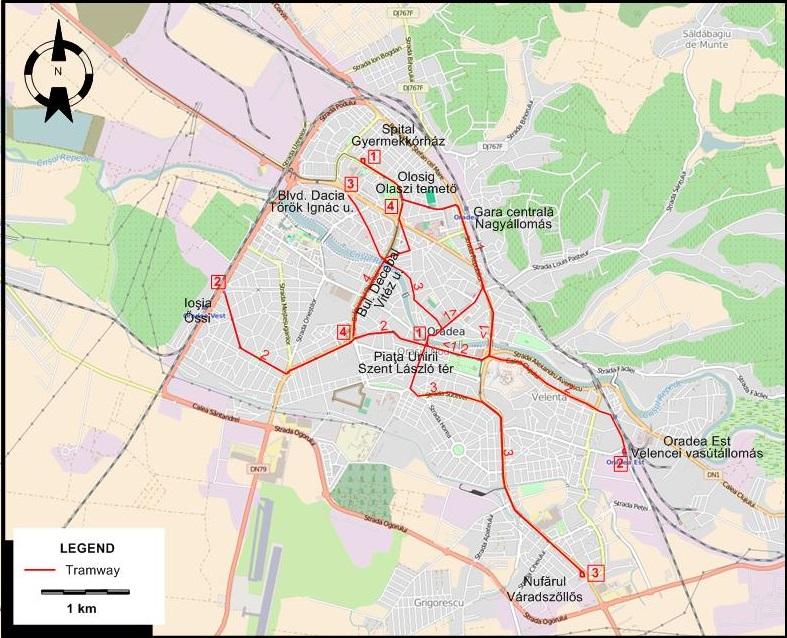 Oradea - Oradea map